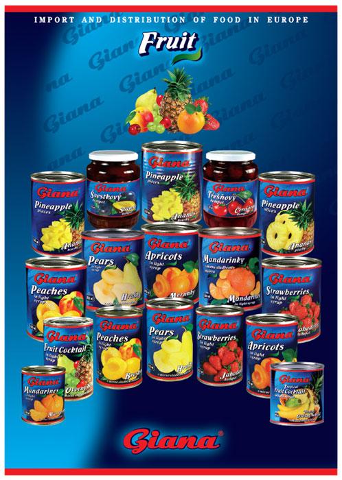 Conserve de fructe Giana