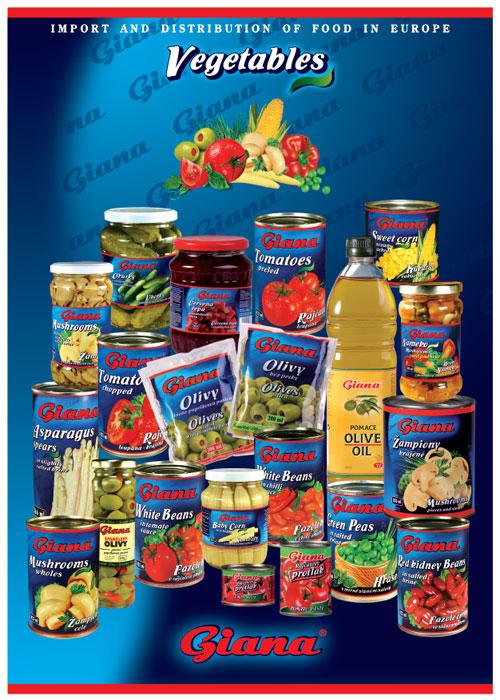 Conserve de legume Giana