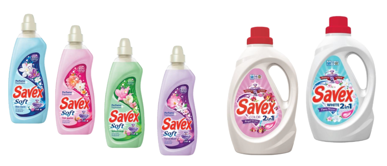 Savex White 1,5l si Savex Soft balsam 1l