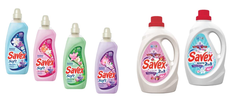 Savex White 1,5l si Savex Soft balsam 1l